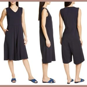 NEW Eileen Fisher Sleeveless Cotton Jumpsuit Mediu